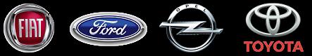 Fiat - Ford - Opel - Toyota